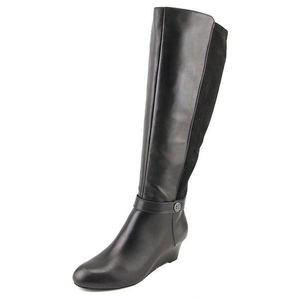 Giani Bernini Dafnee Wide Calf Black Boots
