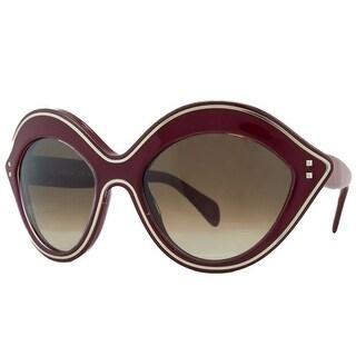 Valentino V689/S 613 Red Oval Sunglasses