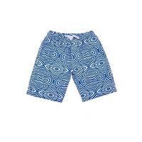 Sun Emporium Baby Boys Blue White Tribal Print Back Pocket Board Shorts