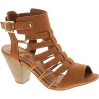City Classified Awesome Gladiator Strappy Chunky Block Heel