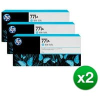 HP 771A 3-Cartridges 775-ml Light Cyan DesignJet Ink Cartridges (B6Y44A) (2-Pack)