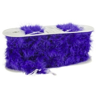 "Simplicity Marabou Feather Boa Trim 1.5""X10yd-Purple"