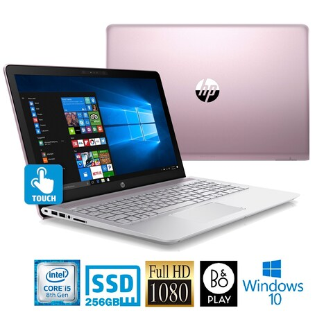 """HP Pavilion 15-CC614DS Intel Core i5-8250U 256GB SSD 15.6"""" FHD Touch WLED Laptop - Pink"""