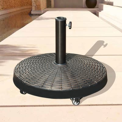 Free Standing Patio Umbrella Base with Wheels