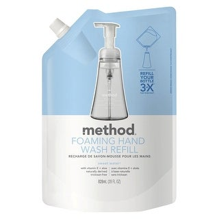 Method 00662 Hand Wash Refill Pouch, 28 Oz, Sweet Water