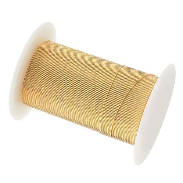 Beadsmith Tarnish Resistant Gold Color Copper Wire 28 Gauge 40 Yards (36.5 Meters)