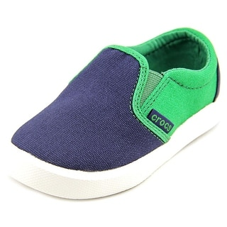 Crocs CitiLane Slip-on Toddler Round Toe Canvas Blue Sneakers