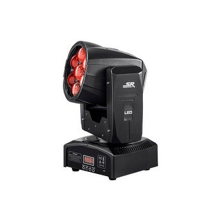 Monoprice Stage Right Stage Wash 12 Watt x 7 LED Moving Head (RGBW) with Zoom