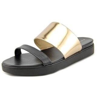 Via Spiga Carita Open Toe Synthetic Slides Sandal