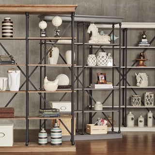 Link to Barnstone Cornice Double Shelving Bookcase by iNSPIRE Q Artisan Similar Items in Office Storage & Organization
