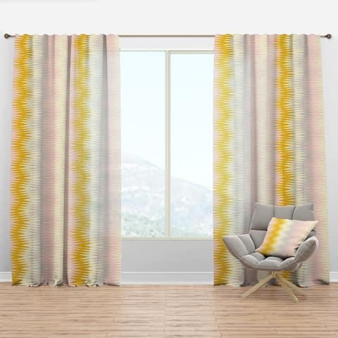 Designart 'Retro Abstract Design IV' Mid-Century Modern Curtain Panel