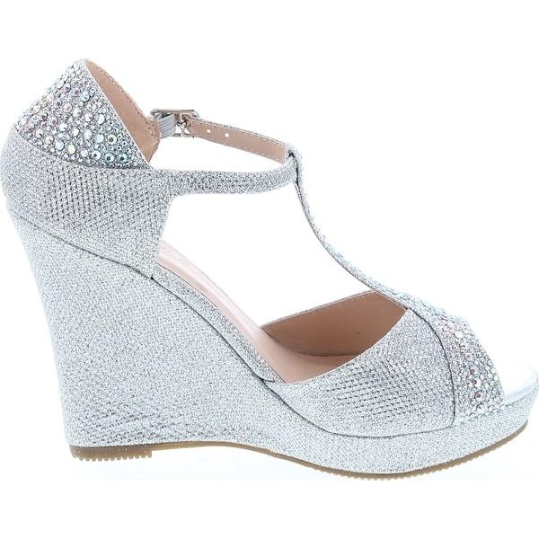 Blossom Angie 39 Silver Sparkle Women/'s Embellished Formal Heels