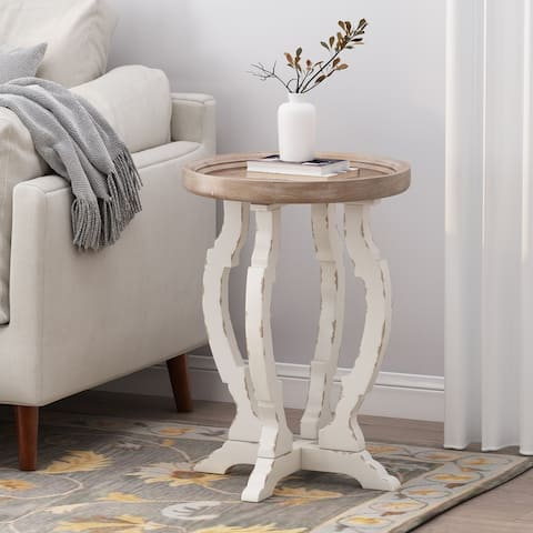 Purdin French Country Accent Table with Round Top by Christopher Knight Home