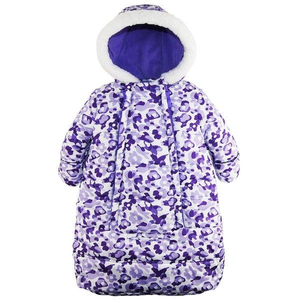 aeb38dd8a580 Shop Pink Platinum Baby Girls Snowsuit Carbag Floral Camo Winter ...