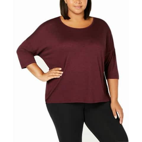 Ideology Women's Plus Size T-Shirt (Purple, 3X)