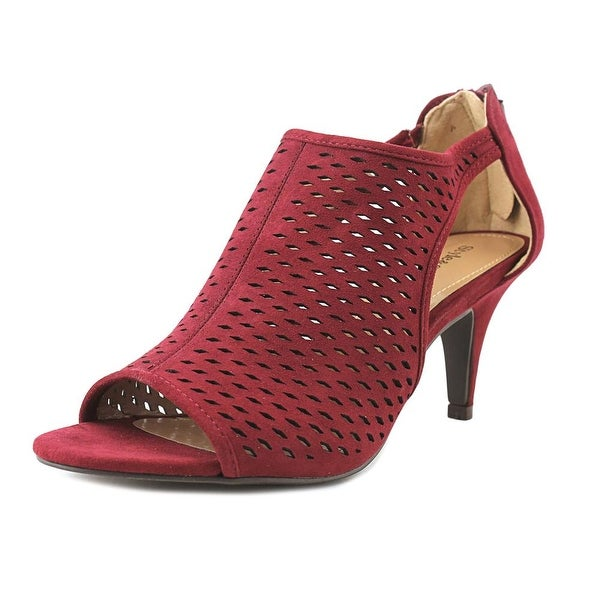Style & Co Haddie Women Open Toe Synthetic Burgundy Sandals