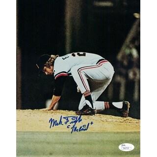 Mark Fidrych Autographed Detroit Tigers 8x10 Photo JSA