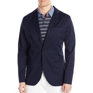 Nautica NEW Navy Blue Mens Size Small S Seamed Two Button Shirt