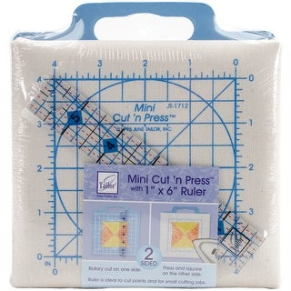 Quilter's Mini Cut'n Press With Ruler-