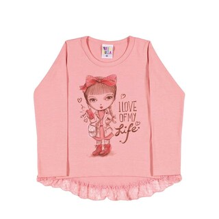 Toddler Girl Shirt Long Sleeve Little Girl Graphic Tee Pulla Bulla Size 1-3 Year (3 options available)