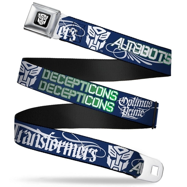 Transformers Autobot Logo Full Color Black White Transformers Autobots Seatbelt Belt