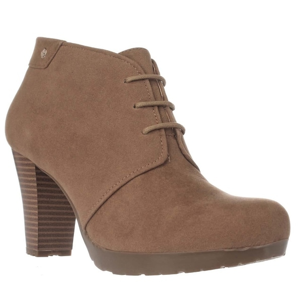 GB35 Odele Lace Up Booties, Caramel - 8 us
