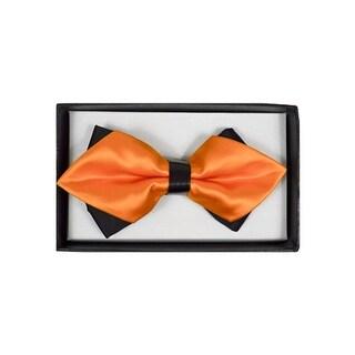 Men's Orange Solid Diamond Tip Bow Tie - DBB3030-54