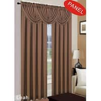 Leah 2-Pack Jacquard Rod Pocket Window Panel, Brown, 54x84 Inches