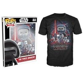 Funko Pop Black Star Wars Episode 7 Force Awakens T-Shirt