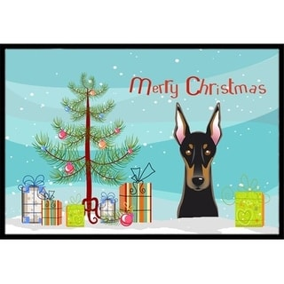 Carolines Treasures BB1617JMAT Christmas Tree & Doberman Indoor or Outdoor Mat 24 x 36