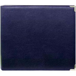 "Navy Blue Oxford - Sewn Cover 3 Ring Album 12""X12"""