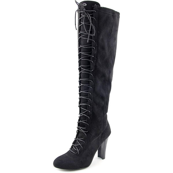 Steve Madden Greatnys Round Toe Synthetic Knee High Boot