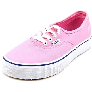 Vans Authentic Youth Round Toe Canvas Pink Sneakers