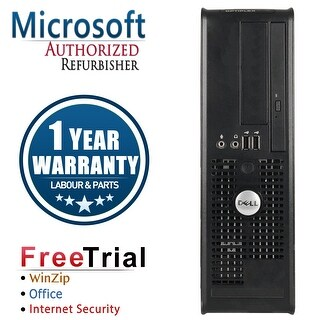Refurbished Dell OptiPlex 745 SFF Intel Core 2 Duo 2.0G 2G DDR2 80G DVD Win 7 Pro 64 Bits 1 Year Warranty - Black