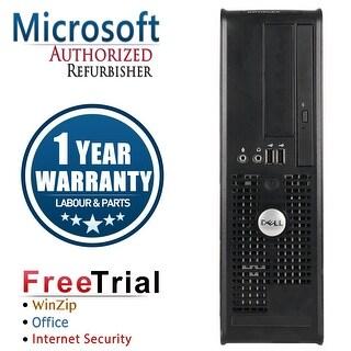 Refurbished Dell OptiPlex 745 SFF Intel Core 2 Duo 2.0G 4G DDR2 320G DVD WIN 10 Pro 64 Bits 1 Year Warranty - Black