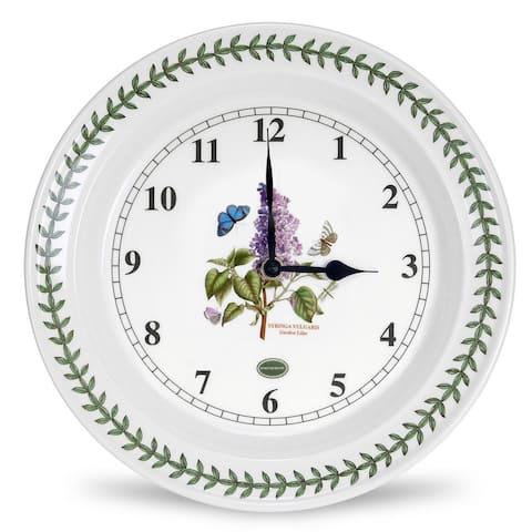Portmeirion Botanic Garden Kitchen Wall Clock - Lilac - 10.5 Inch