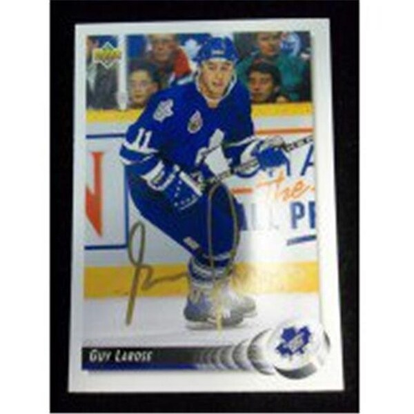 d4c209150ed Shop Signed Larose Guy Toronto Maple Leafs 1992 Upper Deck Autographed -  Free Shipping Today - - 23860451