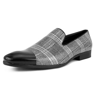 4009c3aeedc0 Quick View.  49.99. Amali Mens Black and White Plaid Loafer ...