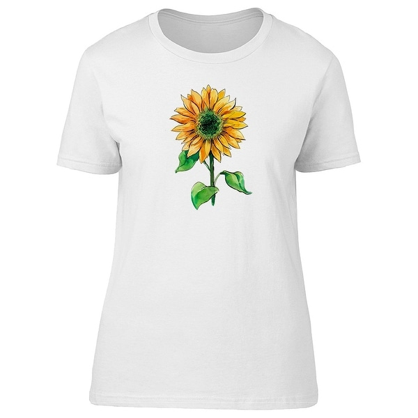 853f42bab7848 Simple Sunflower With Watercolor Tee Women's -Image by Shutterstock