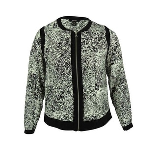Style & Co. Women's Bomber Jacket - 0X