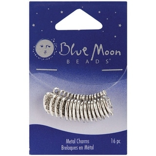 Blue Moon Silver-Plated Metal Charms-Silver Made With Love 16/Pkg - Silver