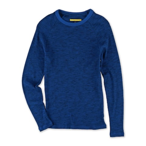 Aeropostale Mens Marled Ribbed Pullover Sweater