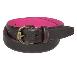 The British Belt Company Women's Kayley Feather Edge Belt with Contrast Color