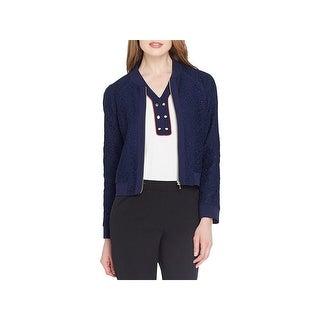 Tahari ASL Womens Jacket Lace Long Sleeves