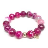 """Fuchsia Agate Lauren 7"""" Bracelet"""
