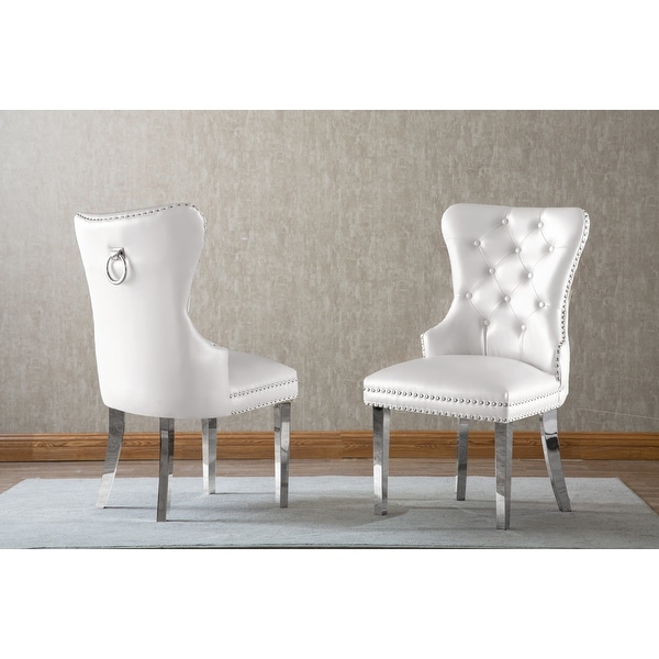 Best Quality Furniture Button Tufted Velvet Dining Chair. Opens flyout.