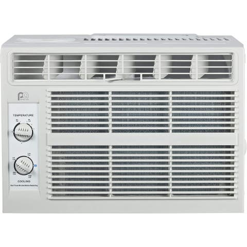 5,000 BTU 115-Volt Window Air Conditioner with Mechanical Controls, Installation Kit, Washable Filter, 150 sq. ft. - Silver