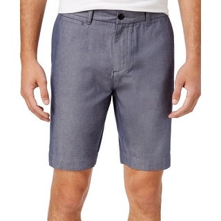 Tommy Hilfiger Blue Mens Size 35 Twill Chambray Casual Shorts