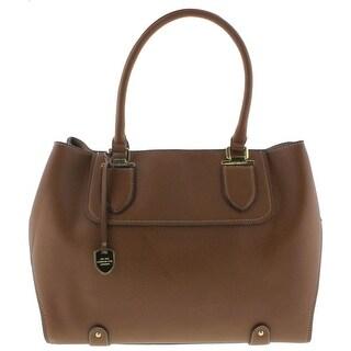 London Fog Womens Tote Handbag Pebbled Faux Leather - Large