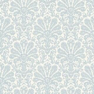 Brewster DLR54641 Seascape Blue Damask Wallpaper